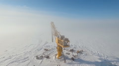 Russian Arctic marine oil terminal Stock Footage