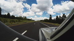 RV Viewpoint Driving Highway 89 North Out Of Flagstaff Arizona Stock Footage