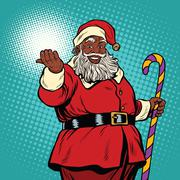 African American black Santa Claus Stock Illustration