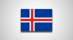4K - Iceland country flag Stock Footage