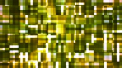 Broadcast Twinkling Squared Hi-Tech Blocks, Green, Abstract, Loopable, 4K Stock Footage