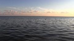 Seascape. Pacification autumn nature. Stock Footage