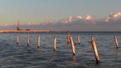Seascape. A light evening breeze. Late afternoon rest. Stock Footage