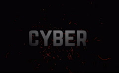 Cyber  Monday Sale. Text animation with flares explosion on dark background. Stock Footage