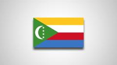 4K - Comoros country flag Stock Footage