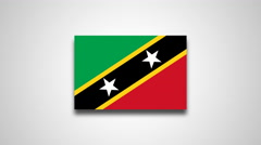 4K - Saint Kitts and Nevis country flag Stock Footage