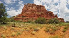POV Hiking Toward Court House Butte On Trail- Sedona AZ Stock Footage