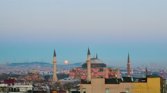 Moonrise over Istanbul Stock Footage