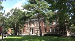 Robinson Hall, Harvard University, Cambridge, MA. Stock Footage