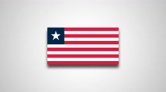 4K - Liberia country flag Stock Footage