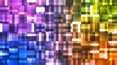 Broadcast Twinkling Squared Hi-Tech Blocks, Multi Color, Abstract, Loopable, 4K Stock Footage