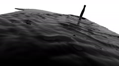 Black liquid flow falls down fills background. tinted oil Stock Footage