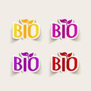 Realistic design element: bio sign Stock Illustration
