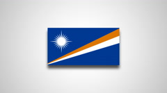 4K - Marshall Islands country flag Stock Footage