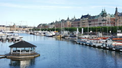 Stockholm city, Sweden Stock Footage