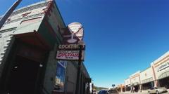 Sultana Tavern Pan To Main Street- Williams Arizona Stock Footage