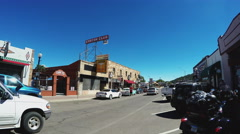 Route 66 Traffic And Storefronts- Williams Arizona Stock Footage