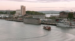 Ship in the Oslo fjord. Stock Footage
