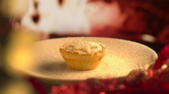 Christmas Pie Eaten Stock Footage