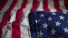 American flag detail footage Stock Footage