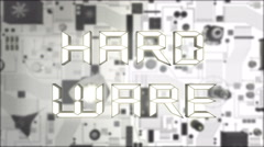Hardware Concept with white futuristic circuit board Stock Footage