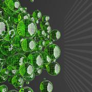 Green glass sphere Stock Illustration