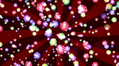 HD Loopable Background with nice falling xmas balls Stock Footage
