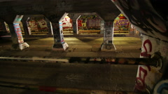 Time lapse shot of Krog Street tunnel in Atlanta, Georgia. Stock Footage
