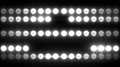 Flashing Light Patterns WHITE Stock Footage