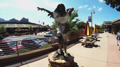 Statue Honoring Sacajaweja American Indian Guide- Sedona Stock Footage