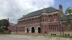 Austin Hall, built 1883, Harvard University, Cambridge, MA. Stock Footage