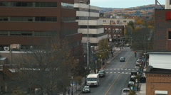 Downtown Fredericton New Brunswick in Autumn. Stock Footage