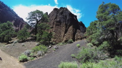 Tilt Rock Formation To Sky- Red Mountain Extinct Volcano- Flagstaff Stock Footage