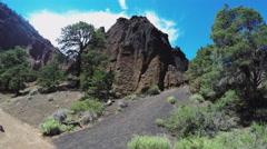 Tilt Rock Formation To Sky- Red Mountain Extinct Volcano- Flagstaff Arkistovideo