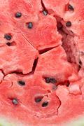 Ripe watermelon flesh closeup macro texture background Stock Photos