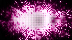 Abstract background with animation of glowing dots. Spangle Glitter background. Stock Footage