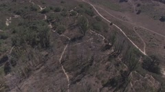 Aerial View of Hiking Trails Stock Footage