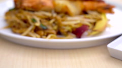 Pad Thai very famous Thai food. Stock Footage