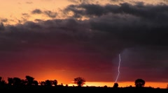 Coming Storm With Lightning Stock Footage