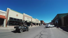 Traffic On Route 66 Through Downtown Williams Arizona Stock Footage