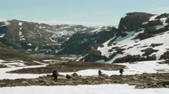 Hiking in the mountains. Stock Footage