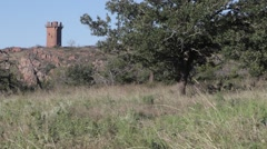 Southwest Oklahoma - Wichita Mountains - Tower by a Tree Stock Footage