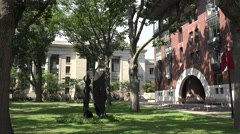 Langdell Hall (left) & Hauser Hall (right), Harvard University, Cambridge, MA. Stock Footage