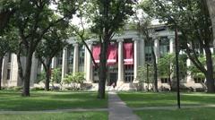 Langdell Hall, Harvard Law School, Harvard University, Cambridge, MA. Stock Footage