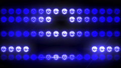 Flashing Light Patterns BLUE Stock Footage