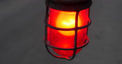 Red Flashing Warning Light Emergency Gate Very Close Up, 4K Stock Footage