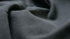 Mesh cloth. black synthetic fabric. can be used as a background Stock Footage