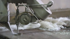 The waterjet installation in the work Stock Footage