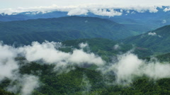 Mountain Range Vista Doi Phuka Stock Footage