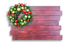 Colorful traditional Christmas wreath Stock Photos